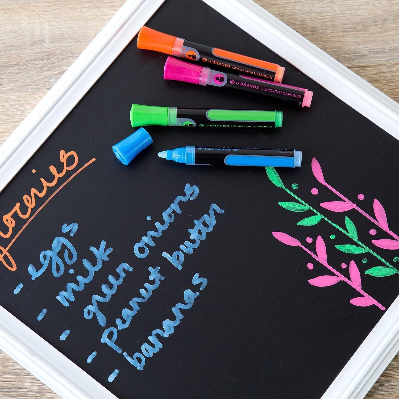 amazon com u brands liquid chalk dry erase markers bullet tip