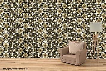 Paper Plane Design Golden Wallpaper For Living Room Bedroom