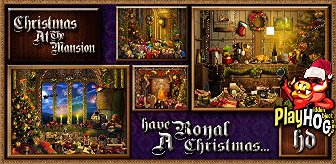 Christmas At The Mansion Find Hidden Object Game Pc Download Amazon Co Uk Pc Video Games