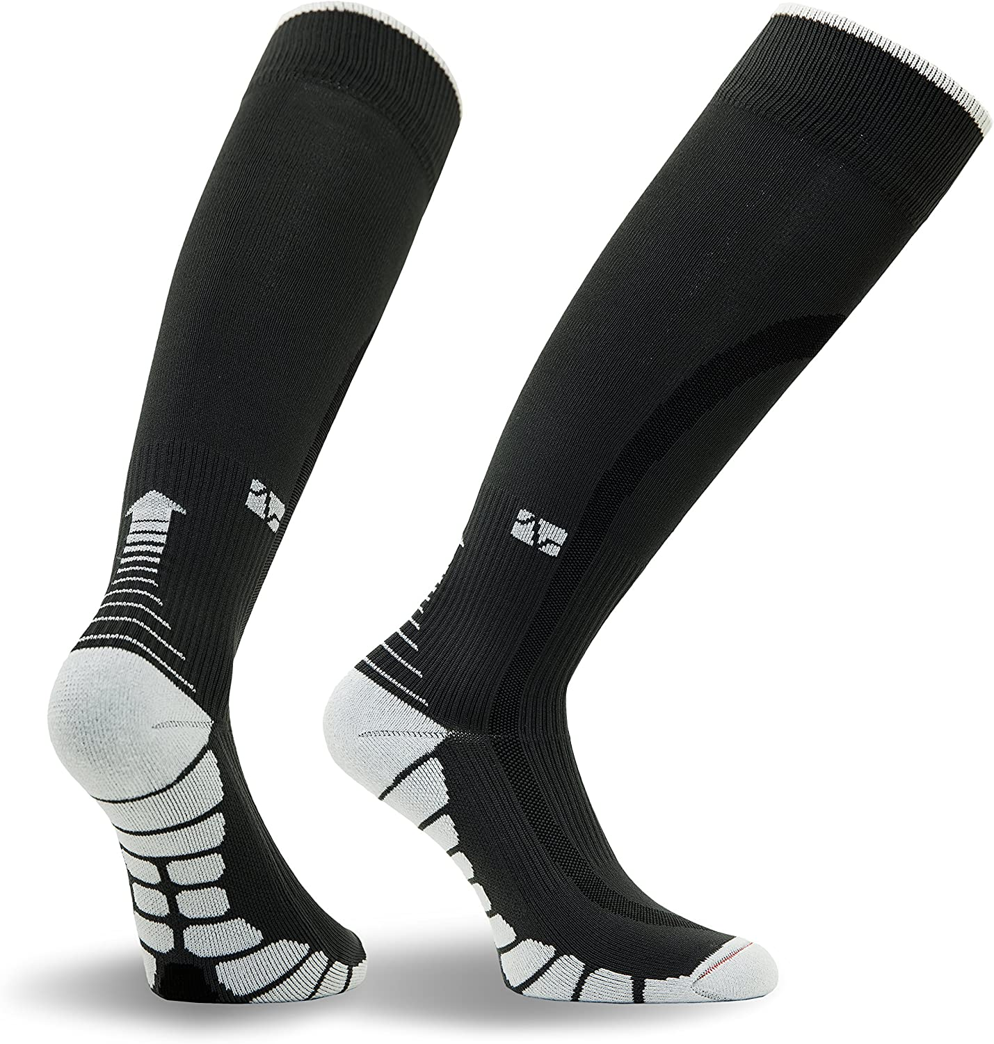 Patented Graduated Compression VT1211 Silver DryStat 1-Pair Fitted Vitalsox Italy