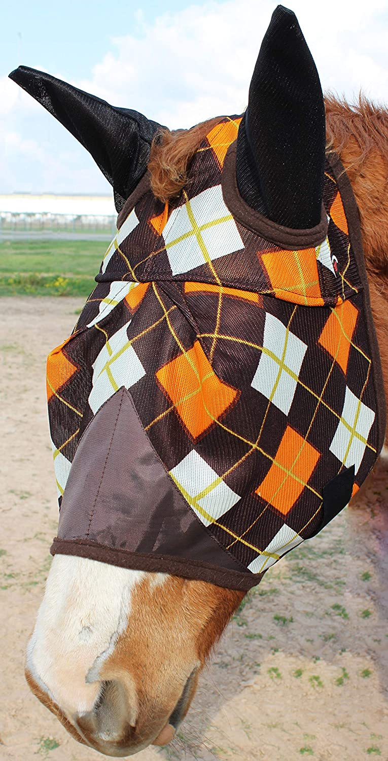 Equine Horse Fly Mask Summer Spring Airflow Mesh UV Mosquitoes 73224