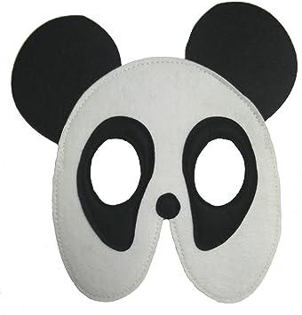Disfraz infantil - Máscara de fieltro para niño / niña - Oso Panda ...