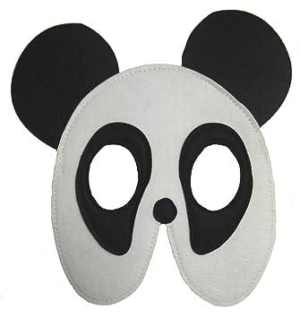 Disfraz infantil - Máscara de fieltro para niño / niña - Oso Panda - Sujeción: