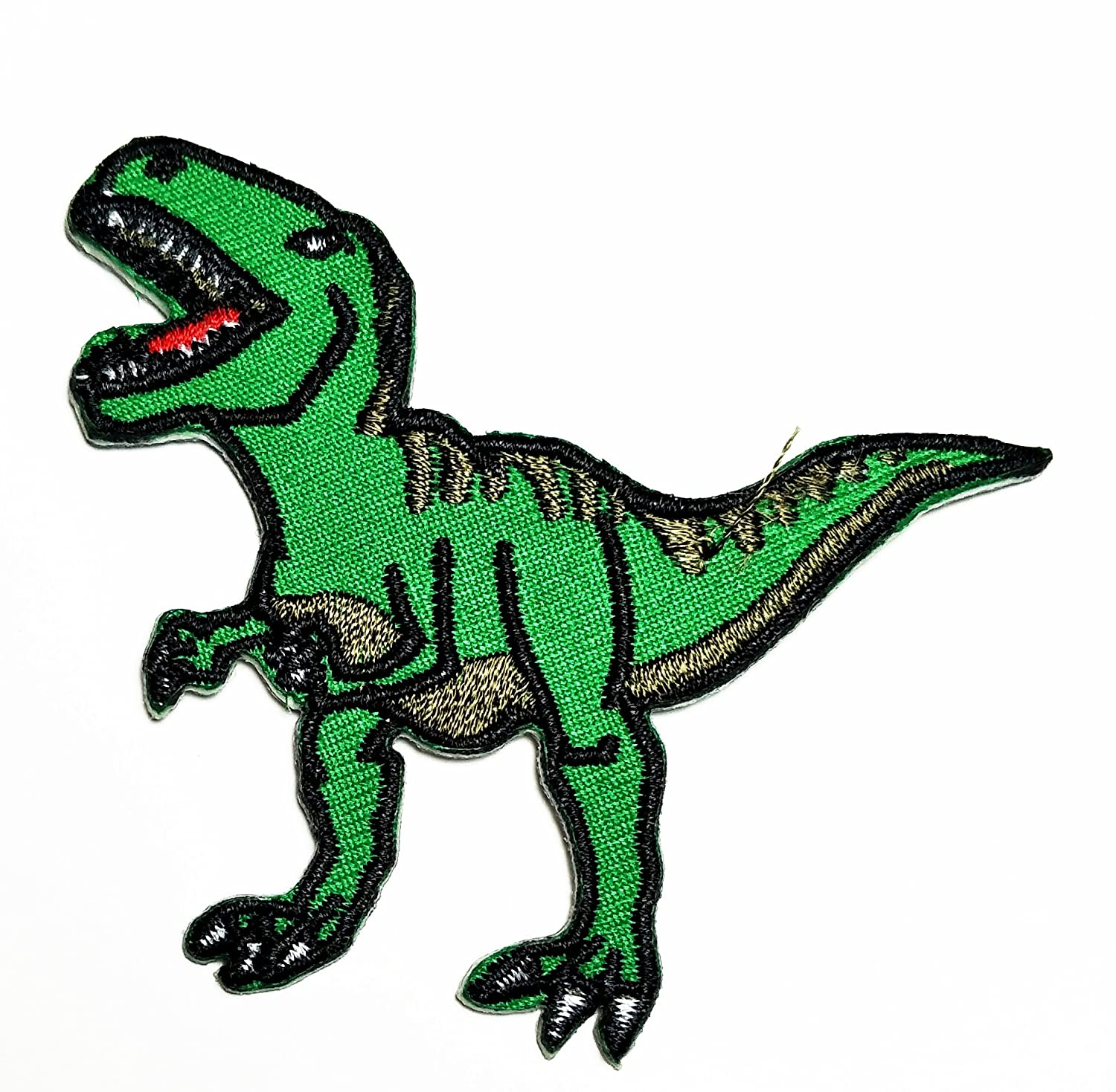 HHO T Rex Dinosaur Animal Kid Baby Boy Girl Patch Embroidered DIY Patches, Cute Applique Sew Iron on Kids Craft Patch for Bags Jackets Jeans Clothes