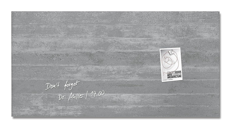 Sigel GL148 Glas-Magnetboard 91 x 46 cm Motiv Sichtbeton   Magnettafel artverum - weitere Designs Größen