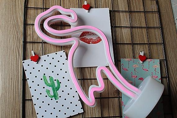 Paide Lámpara de decoración LED - Luz neón Diferentes Modelos - Luces de cumpleaños Boda - Diferentes Modelos (Flamenco): Amazon.es: Hogar