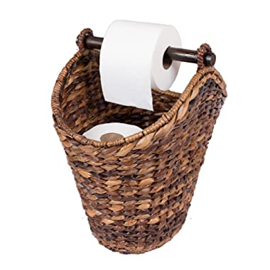 BirdRock Home Free Standing Seagrass Toilet Paper Holder and Dispenser