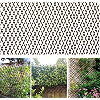 Sumery Nature Willow Trellis Expandable Plant Support Plant Climbing Lattices Trellis Willow Expandable Trellis Fence for Climbing Plants Support 36x92 Inch,Double Panel (1, Willow Wicker Fence)