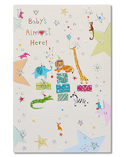 Amazon american greetings almost here new baby congratulations american greetings almost here new baby congratulations card with foil m4hsunfo
