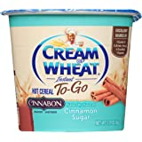 Cream of Wheat, Hot Cereal to Go, Cinnabon, 2.29 Ounce (Pack of 6)