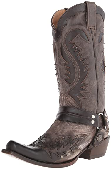 Stetson Mens 13in Snip Toe Harness Brown Leather Western Cowboy Boots 7 D
