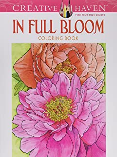 Creative Haven In Full Bloom Coloring Book Books