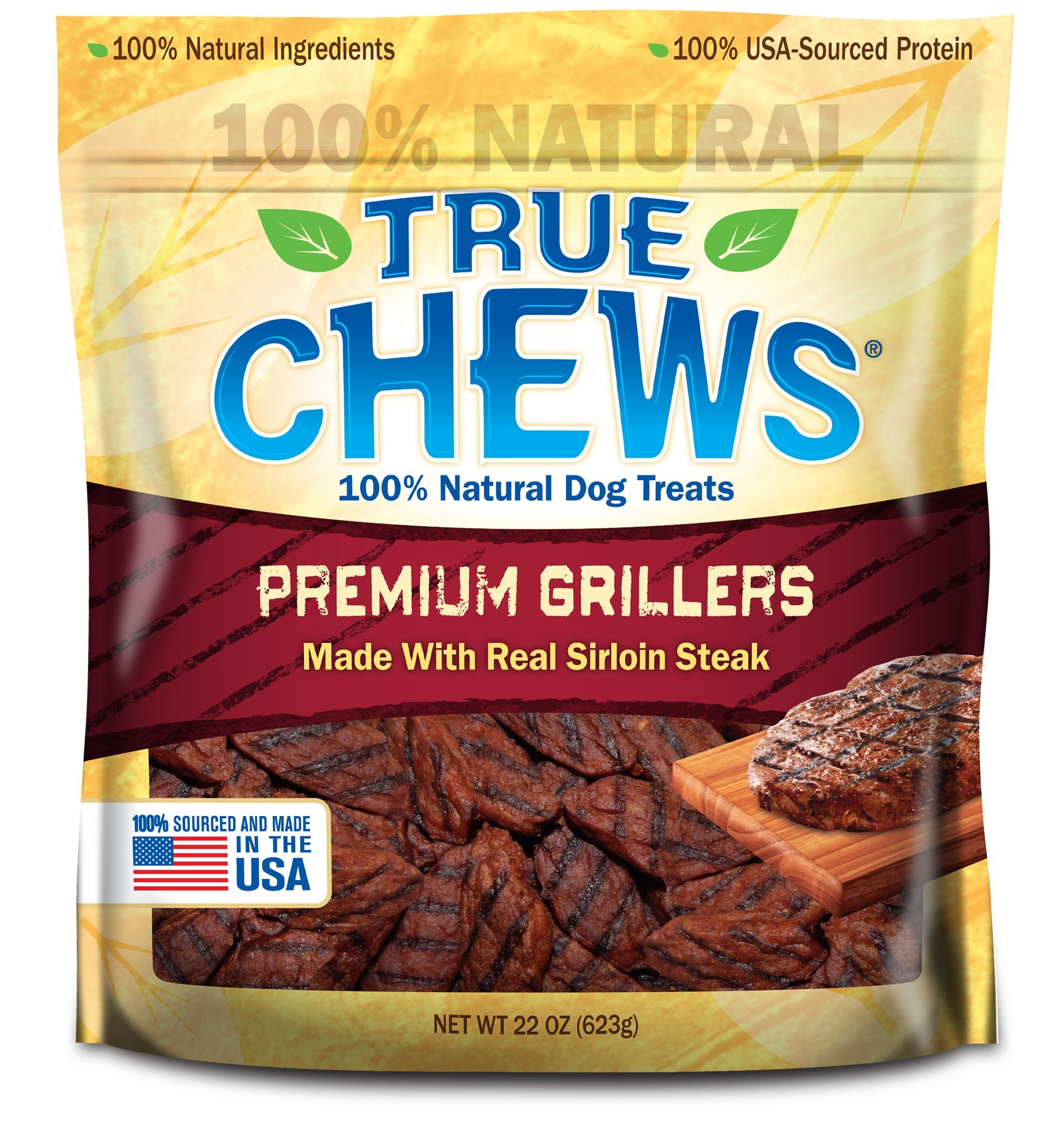 True Chews Premium Grillers Made with Real Sirloin Steak, 22 oz