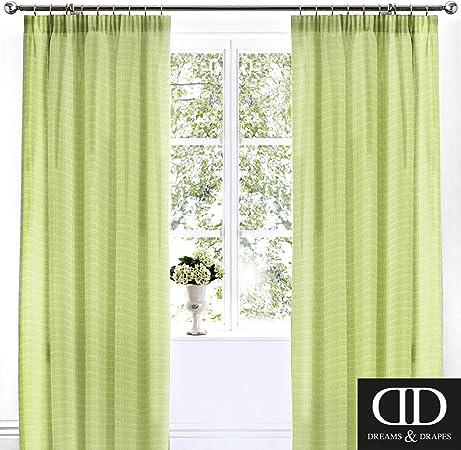 Dreams Drapes Botanique Lined Pencil Pleat Curtains 66