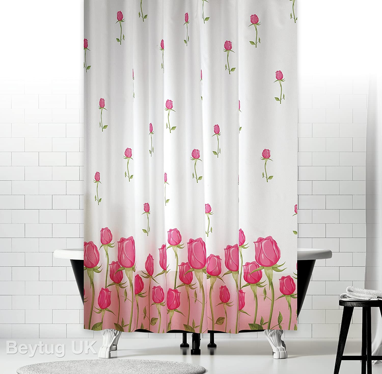 "New Modern Bathroom Shower Curtain Extra Long Wide 180 x Drop 200 cm 71/""X78/"""