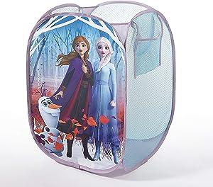"Disney Frozen 2 Pop Up Hamper Featuring Anna & Elsa, 21"" H x 13.5"" W X 13.5"" D"