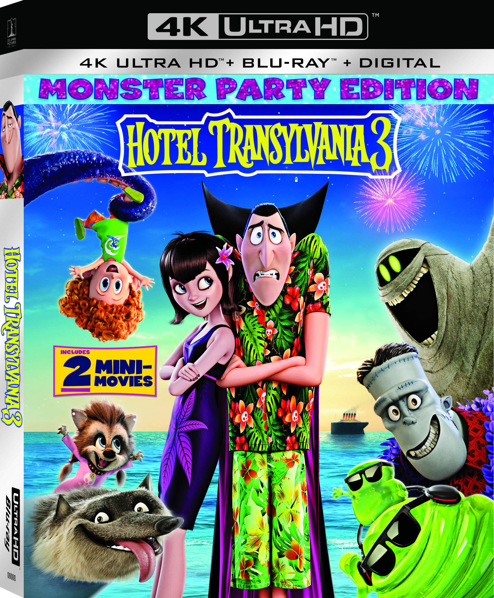 4K Blu-ray : Hotel Transylvania 3: Summer Vacation (With Blu-ray, 4K Mastering, 2 Pack, Digital Copy)
