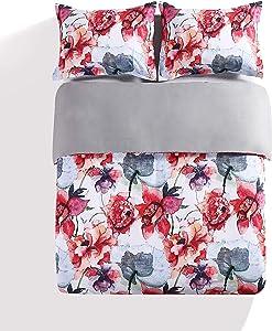 kensie Siena Floral Print Comforter Set, King, Multi