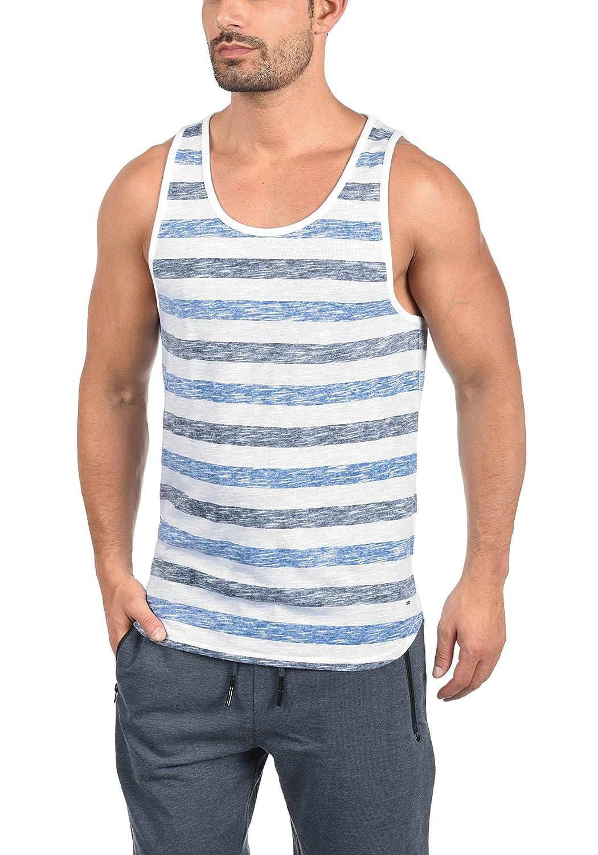 !Solid Mende Camiseta Básica De Tirantes Tanque Tank Top con Cuello Redondo