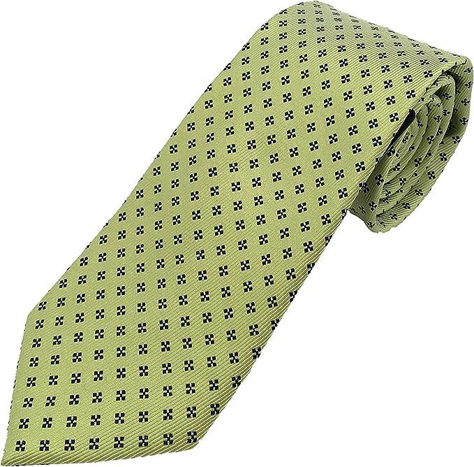 Corbata verde - Corbata fina fabricada artesanalmente - 100% seda ...
