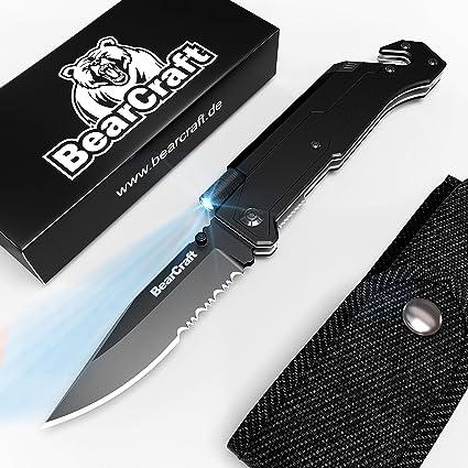 Amazon.com: BearCraft Cuchillo plegable libre de inclusión ...