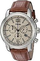 Fossil FSW7007 Swiss FS-5 Series Quartz Chronograph Alligator Watch – Brown