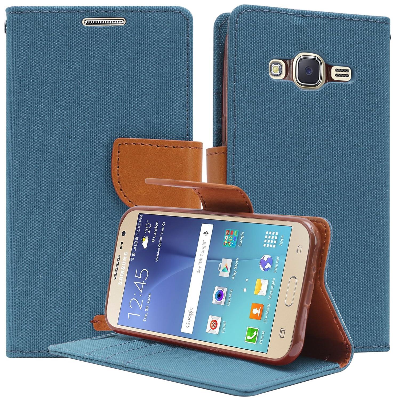 Dmg Mercury Canvas Wallet Case Flip Cover For Samsung Goospery Galaxy J2 Diary Green Electronics