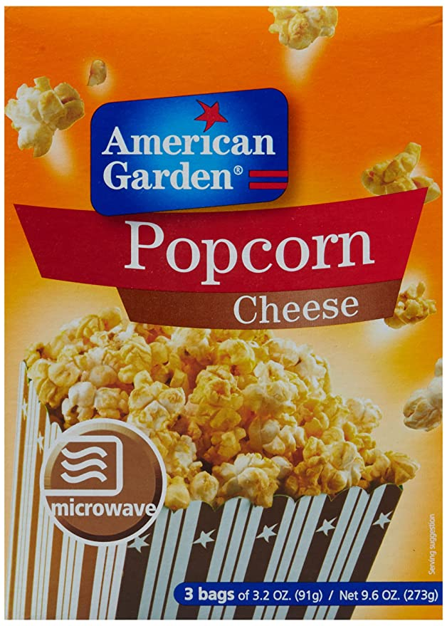 American Garden Microwave Popcorn, Cheese, 273g Microwave Popcorn at amazon