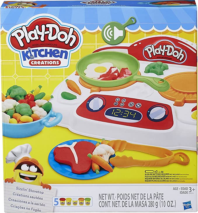 Amazon.com: Play-Doh - B9014 - Kitchen Creations Sizzling Stovetop: Toys & Games