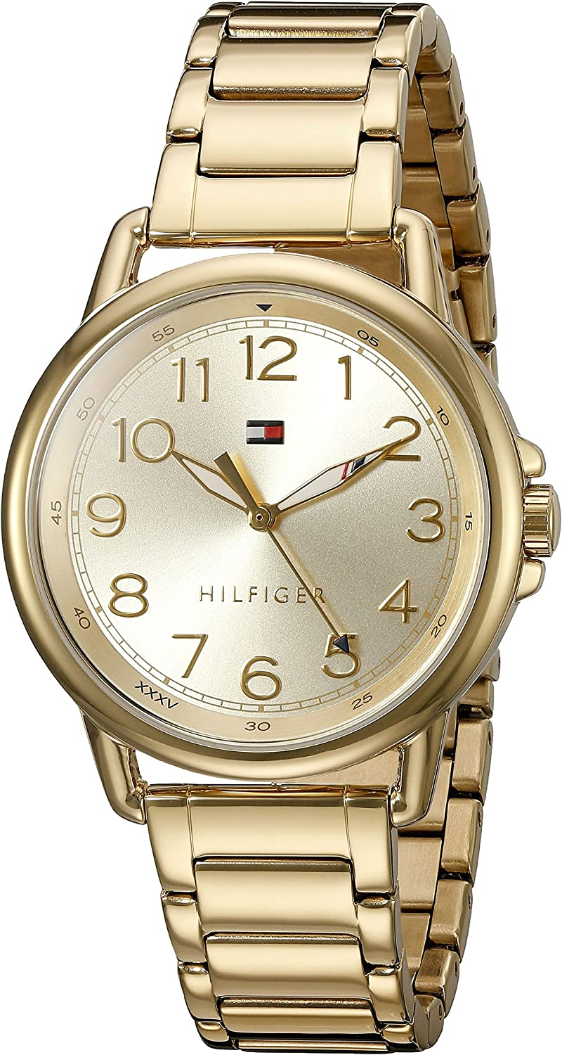 Tommy Hilfiger Women s Casey Quartz Gold-Plated Casual Watch Model 1781656
