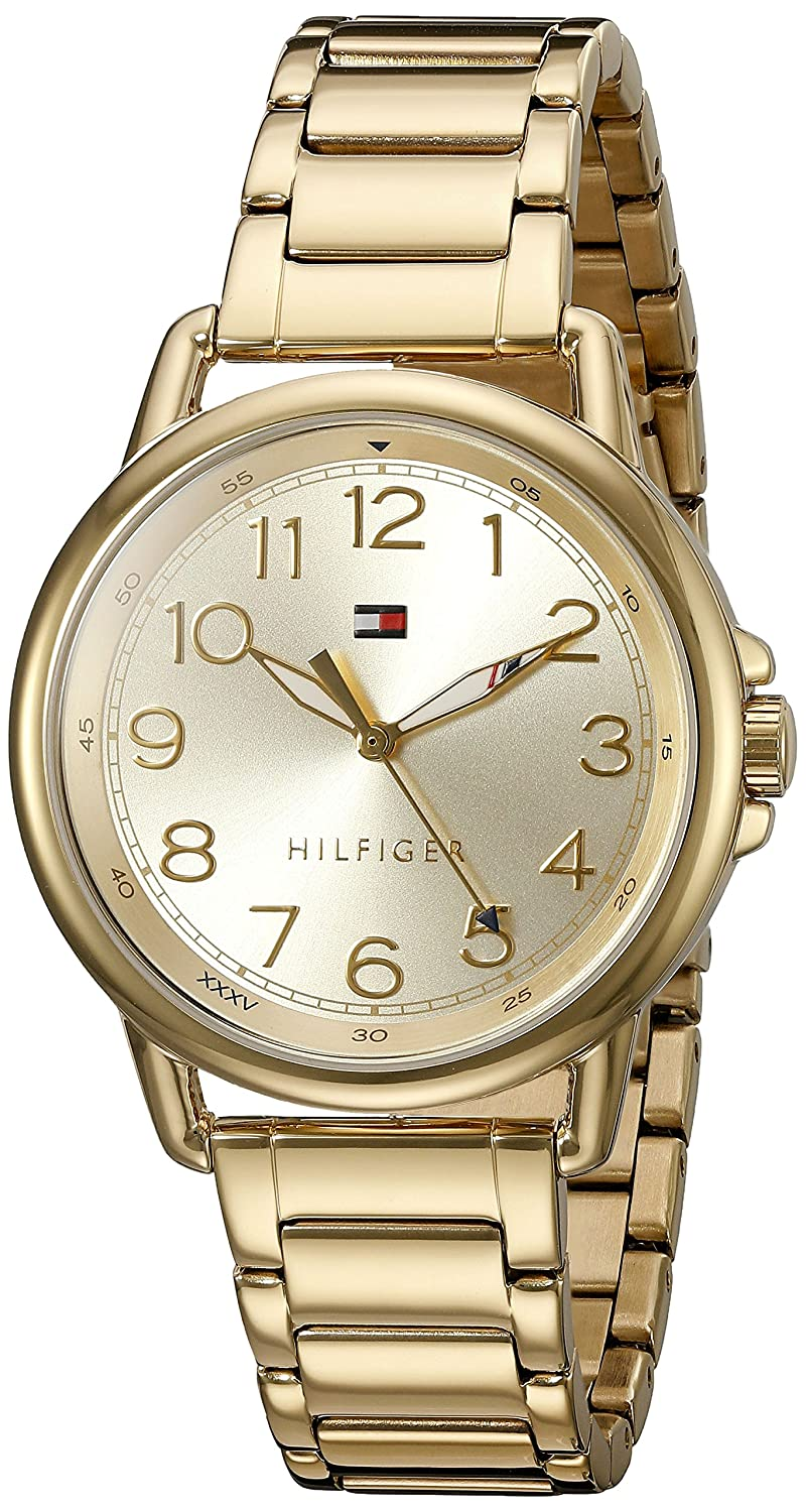 cdb62446 Amazon.com: Tommy Hilfiger Women's Casey Quartz Gold-Plated Casual Watch  (Model: 1781656): Tommy Hilfiger: Watches