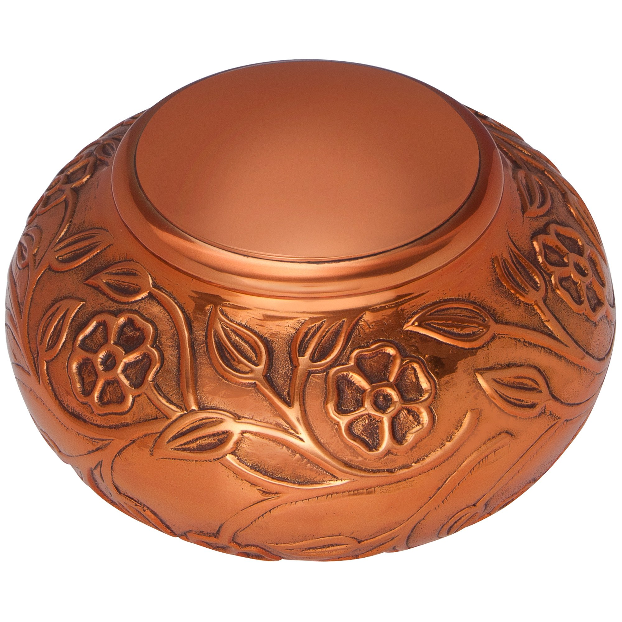 Copper Funeral Urn by Liliane Memorials - Cremation Urn for Human Ashes - Hand Made in Brass - Suitable for Cemetery Burial or Niche - Large Size fits remains of Adults up to 70 lbs by Liliane Memorials (Image #3)