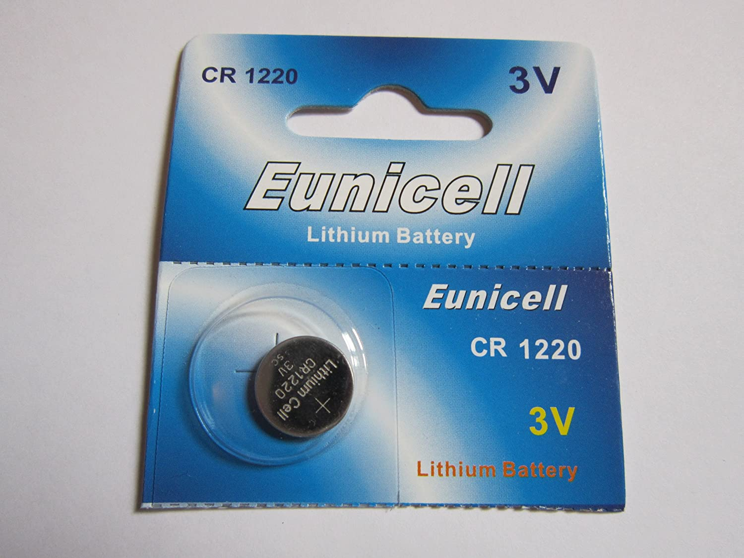 1 Pcs CR1220 CR 1220 - 3V Eunicell Lithium Button Cell Battery Batteries - BRAND NEW IN FACTORY PACKAGING