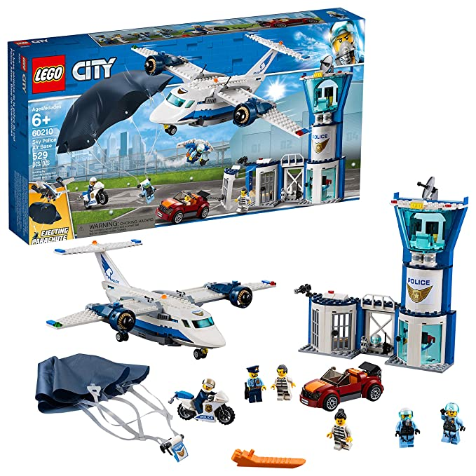 Lego City Sky Police Air Base 60210 Building Kit , New 2019 (529 Piece) by Lego