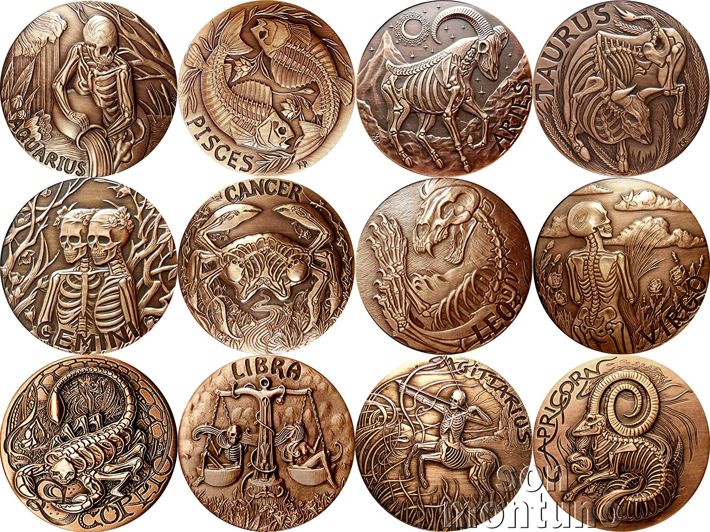 Zodiac Series Leo    1oz .999 copper round