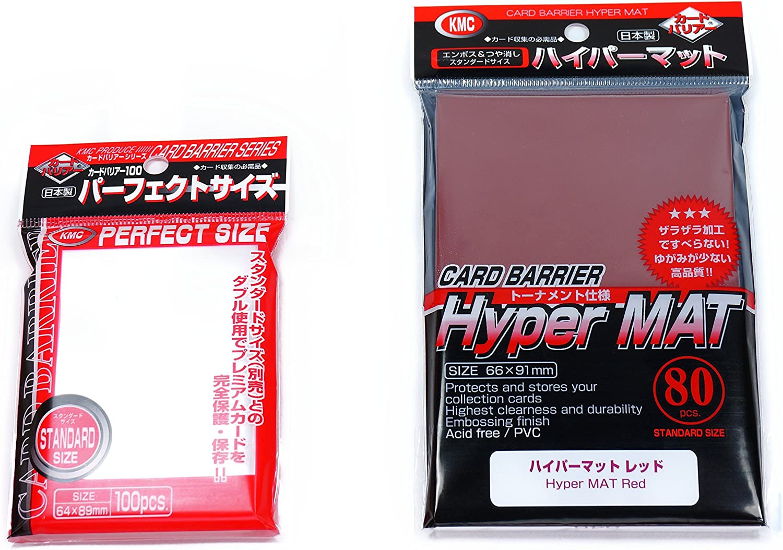 KMC Bundle 80 Hyper Mat White 100 Perfect Size Sleeves