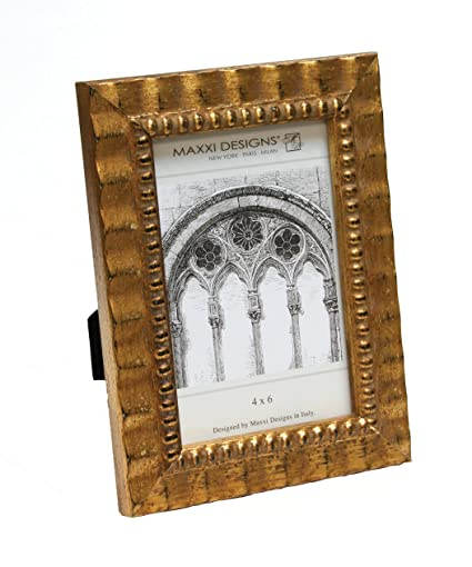 Antique Frame Designs For Maxxi Designs Arezzo Antique Gold Frame With Beads 8quot Amazoncom 8