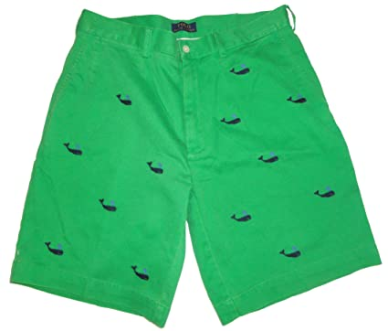 Polo by Ralph Lauren Mens Whale Logo Shorts Green (29)