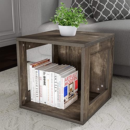 Home Lavish End Stackable Contemporary Minimalist Modular Cube Accent Table