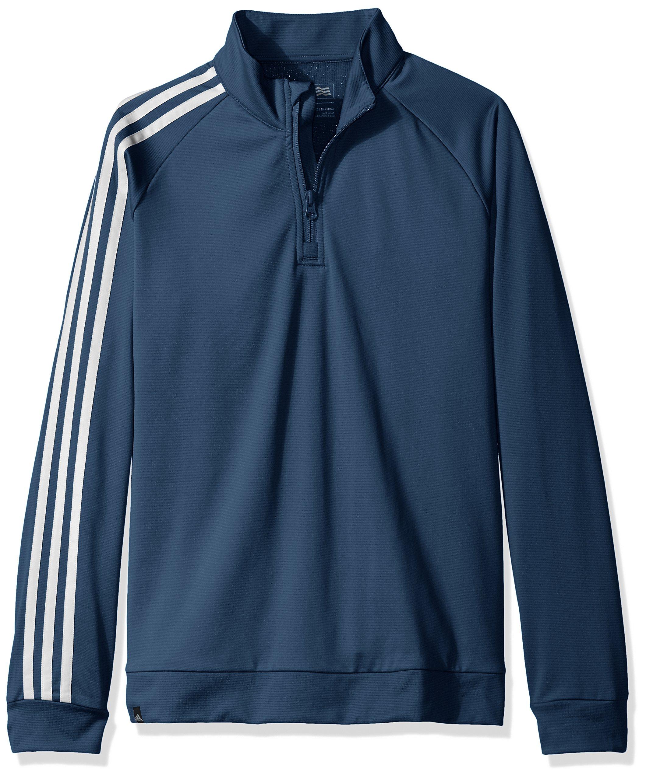 adidas Golf Boy's 3-Stripes Jacket (Big Kids), Mineral Blue, X-Large by adidas