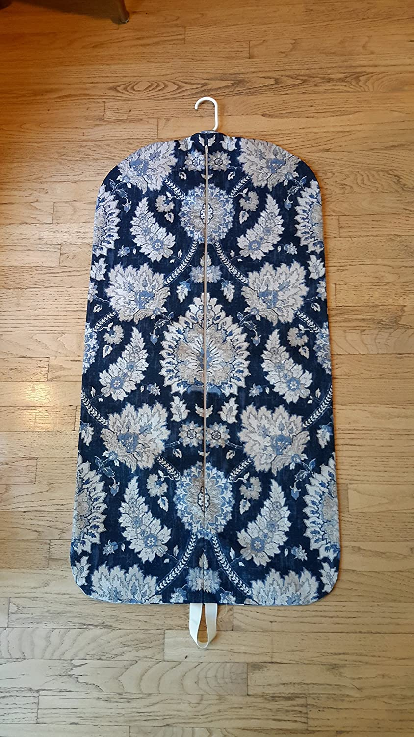 Carry It Well Womens Navy Paisley Medallion Hanging Garment Bag
