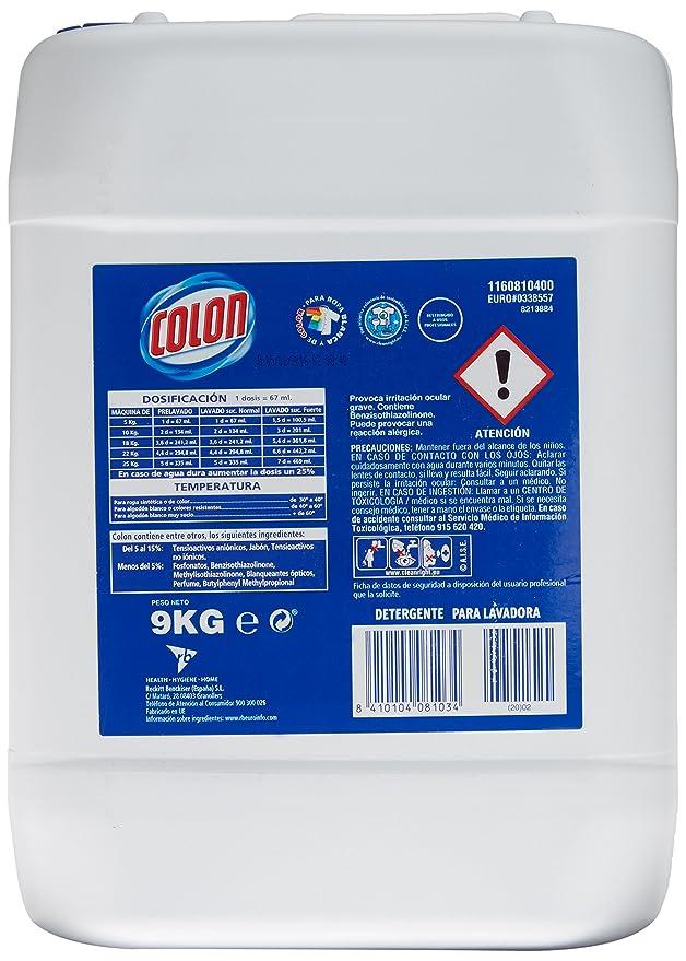 Colon Azul Profesional Detergente de lavadora Líquido - 9 kg ...