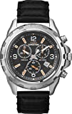 Timex Expedition Men's Quartz Watch with Black Dial Chronograph Display and Leather Strap