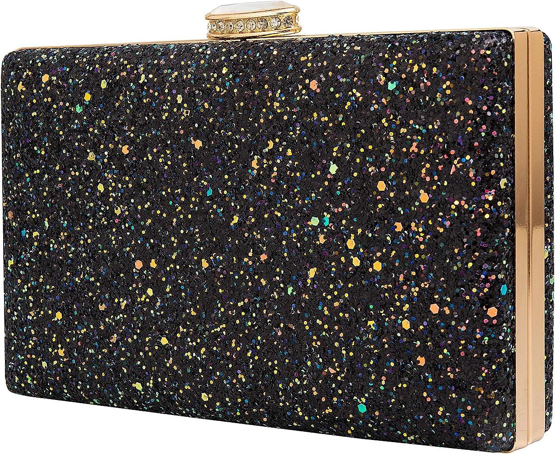 Sparkly Glitter Clutch Bag Large Flap Envelope Evening Bag Bridal Wedding Purse