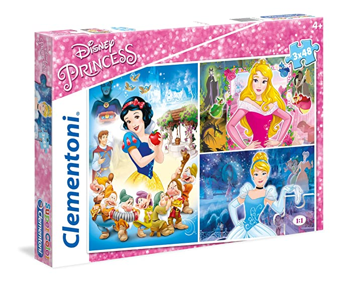 Clementoni 25211 Puzzle Disney Princess 3x48 Pezzi No Name