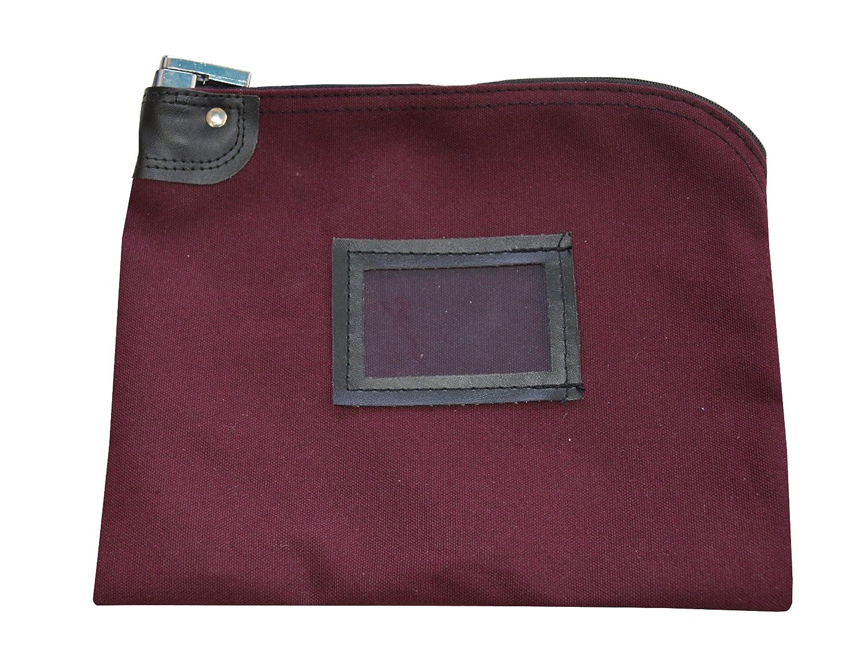 Locking Money Bag Canvas Keyed Security Burgundy Cardinal Bag Supplies 76161231