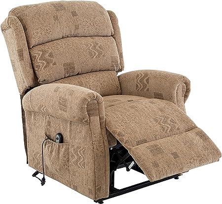 Birlea Manhattan Rise and Recline Chair Fabric, Motorised, Wheat