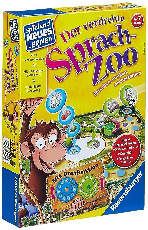 Ravensburger Spielend Neues Lernen Sprach-Lernspiel verdrehte Sprach-Zoo 24945 Gesellschaftsspiele