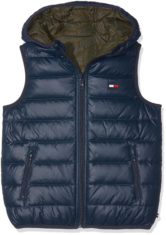 Tommy Hilfiger Boy's Thkb Rev Down Vest Sports Gilet Blue (Navy Blazer 431) KB0KB03227