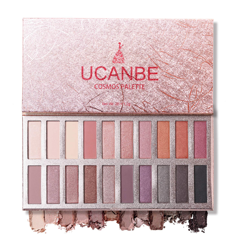 Ucanbe Cosmos Nude Eyeshadow Palette, Pro Matte Shimmer Glitter 20 Eye shadow Makeup Highly Pigmented Long Wear Waterproof (Naked)